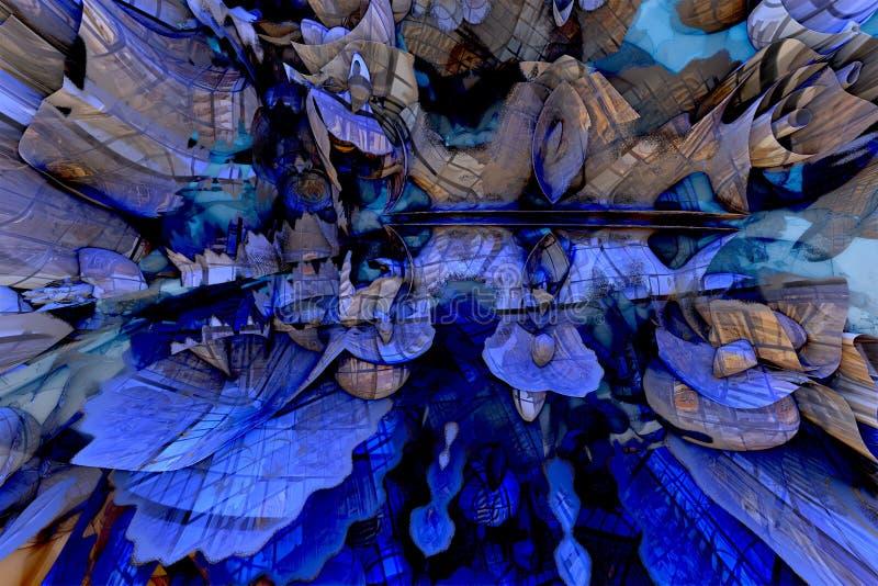 Fondo abstracto del fractal stock de ilustración