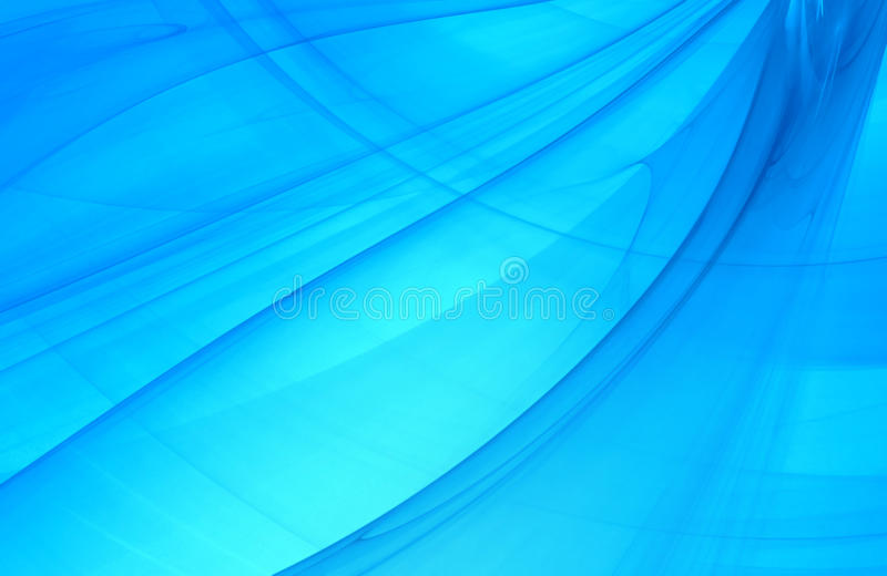 Fondo abstracto del fractal en luz marina azul libre illustration
