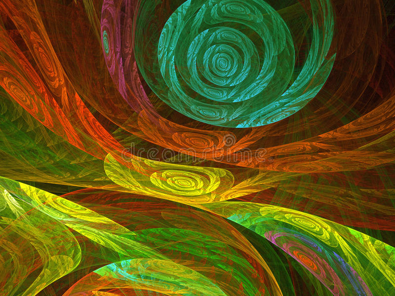 Fondo abstracto del fractal enrollamientos ilustración del vector