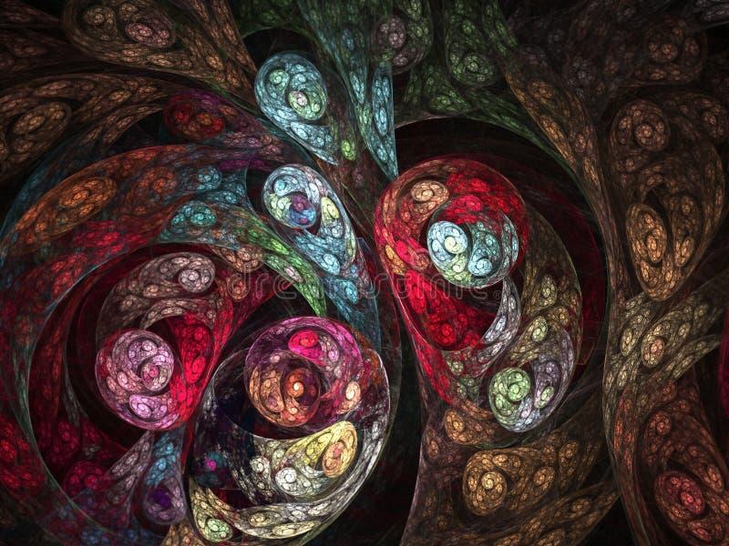 Fondo abstracto del fractal - imagen generada por ordenador libre illustration