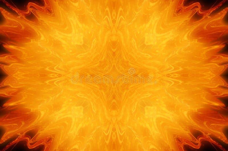 Fondo abstracto del fuego stock de ilustración