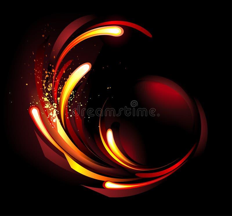 Fondo abstracto del fuego ilustración del vector