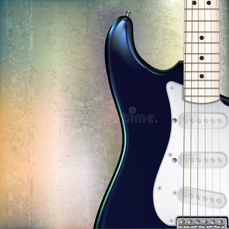 Fondo abstracto del grunge con la guitarra eléctrica stock de ilustración
