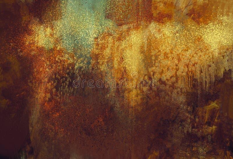 Fondo abstracto del grunge del arte con color aherrumbrado del metal ilustración del vector