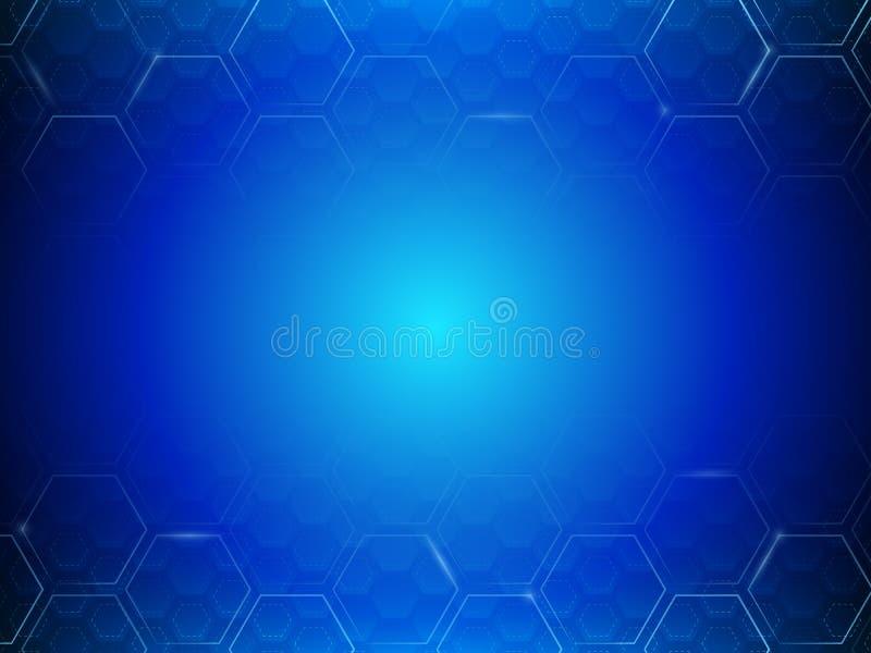 Fondo abstracto del hexágono de la tecnología Diseño poligonal de alta tecnología ilustración del vector