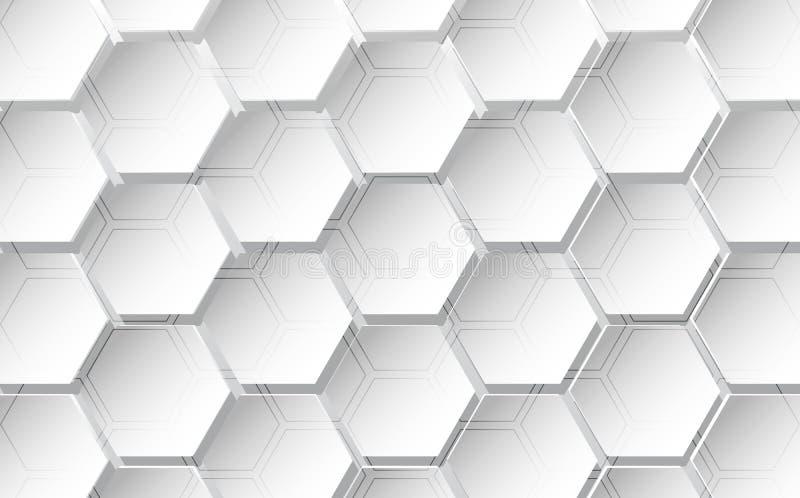 Fondo abstracto del hexágono Diseño poligonal de la tecnología Ilustración del vector libre illustration