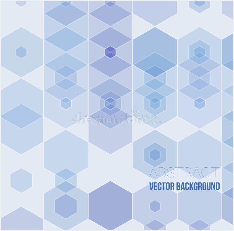 Fondo abstracto del hexágono Diseño poligonal de la tecnología Minimalismo futurista de Digitaces ilustración del vector