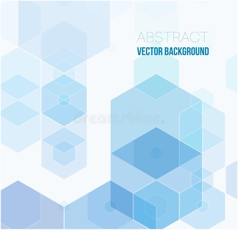 Fondo abstracto del hexágono Diseño poligonal de la tecnología Minimalismo futurista de Digitaces stock de ilustración