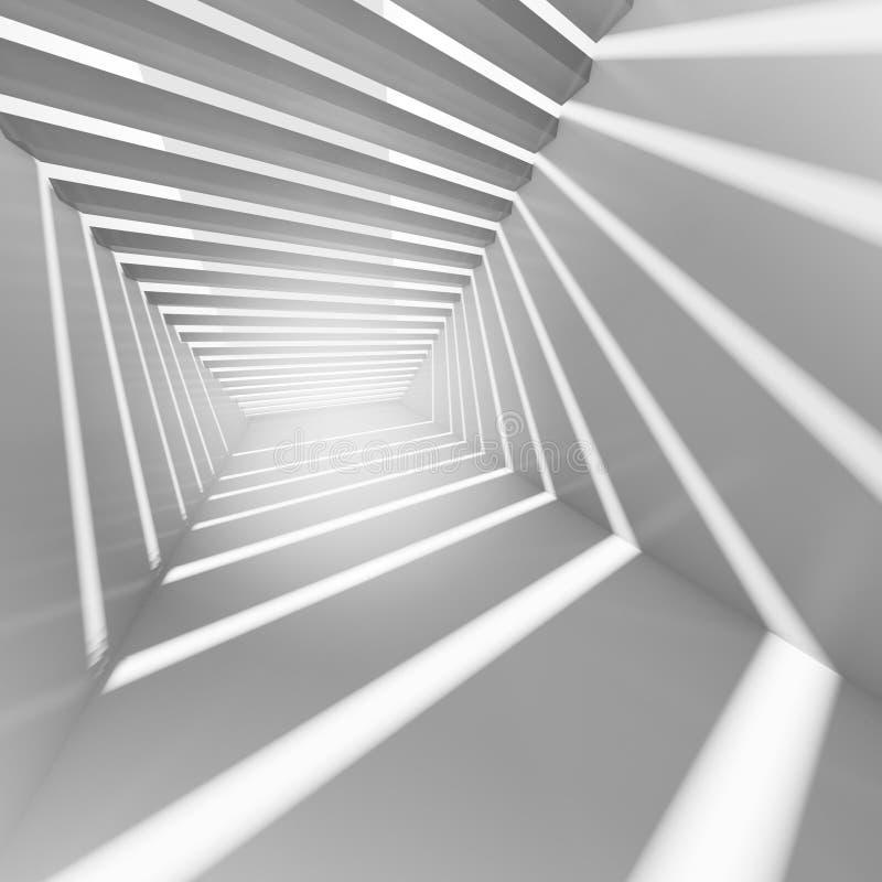 Fondo abstracto del interior del blanco 3d ilustración del vector