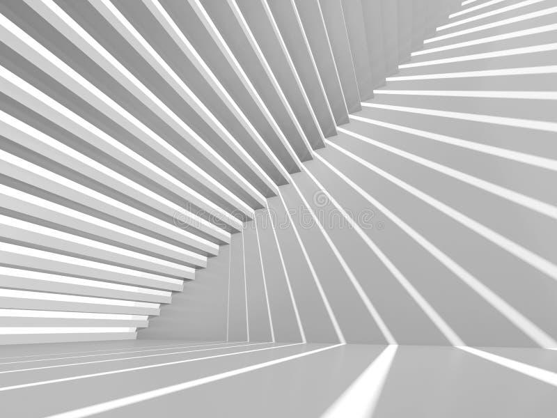 Fondo abstracto del interior del blanco 3d libre illustration