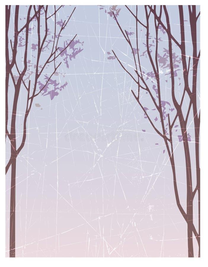 Fondo abstracto del invierno stock de ilustración
