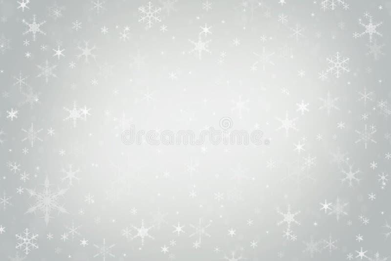 Fondo abstracto del invierno de la Navidad del gris de plata foto de archivo