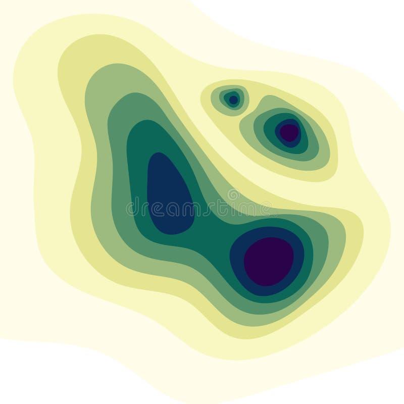 Fondo abstracto del mapa de la topografía stock de ilustración