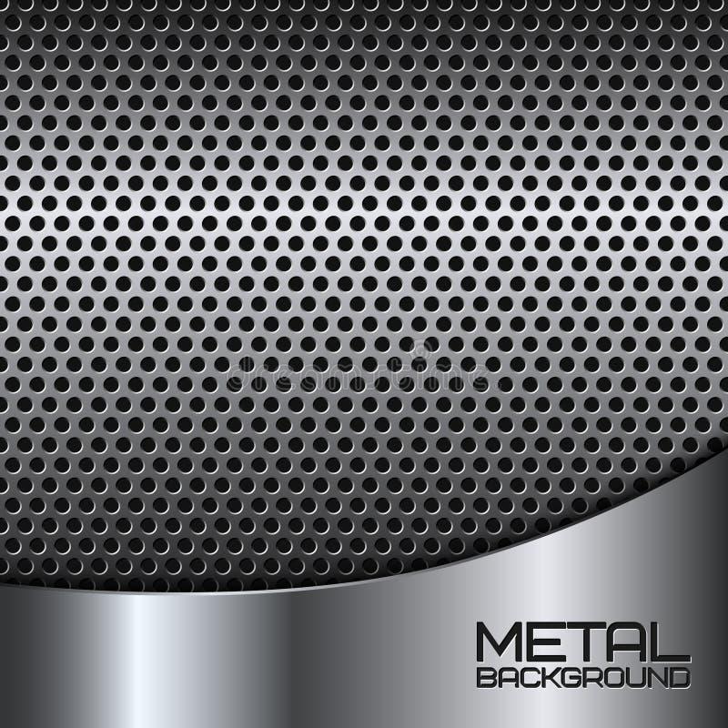 Fondo abstracto del metal con la perforación ilustración del vector