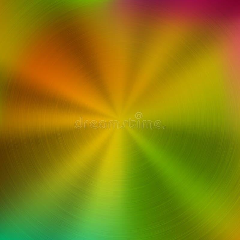 Fondo abstracto del metal con pendiente del color ilustración del vector