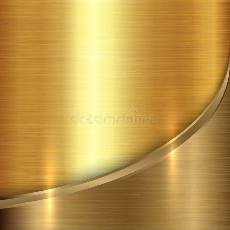 Fondo abstracto del metal precioso del vector con libre illustration