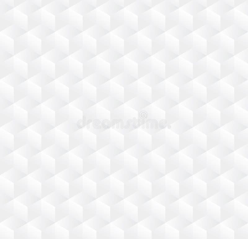 Fondo abstracto del modelo del cubo 3D, fondo inconsútil de la caja blanca 3d, vector libre illustration
