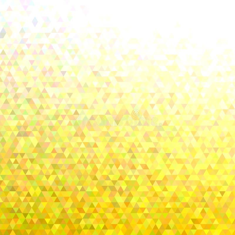 Fondo abstracto del modelo de la teja del triángulo del mosaico - diseño moderno del vector del polígono de triángulos regulares libre illustration