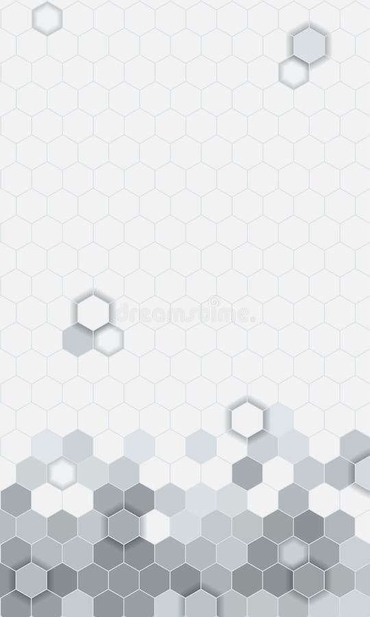 Fondo abstracto del modelo de los hexágonos para UI móvil ilustración del vector