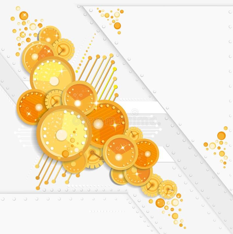 Fondo abstracto del modelo del reloj del círculo para su negocio promocional ilustración del vector