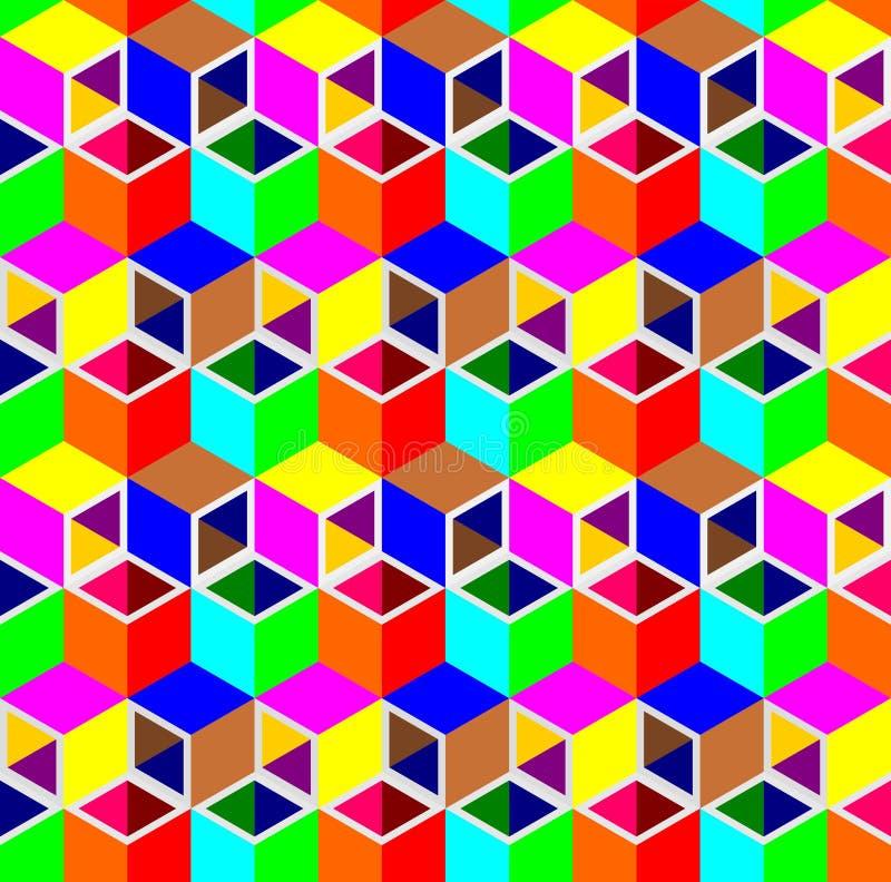 Fondo abstracto del modelo del tubo del cubo 3d stock de ilustración