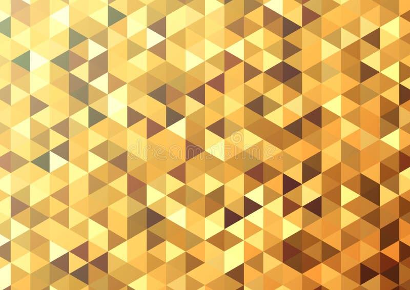 Fondo abstracto del mosaico del color Fondo del vector del oro ilustración del vector