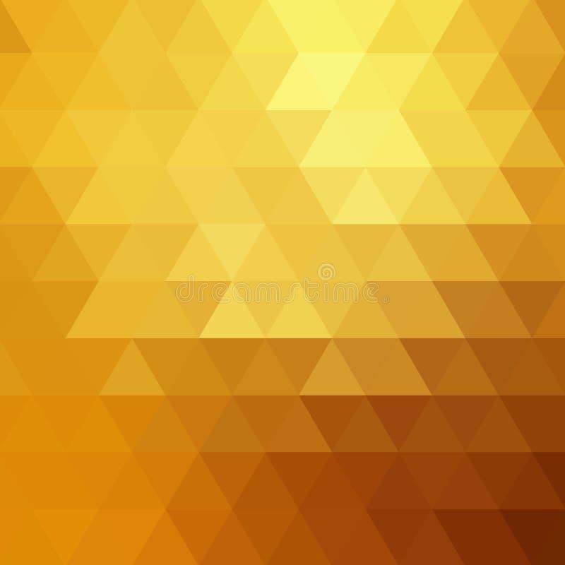 Fondo abstracto del mosaico del color Fondo del vector del oro EPS 10 stock de ilustración