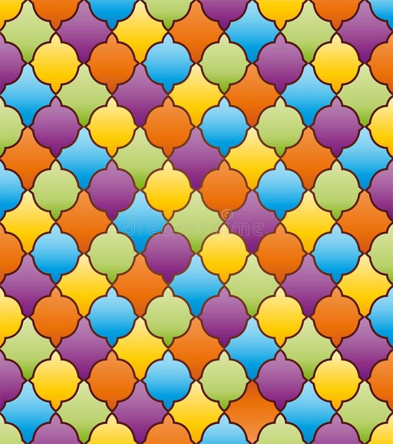 Fondo abstracto del mosaico con el ornamento imagenes de archivo