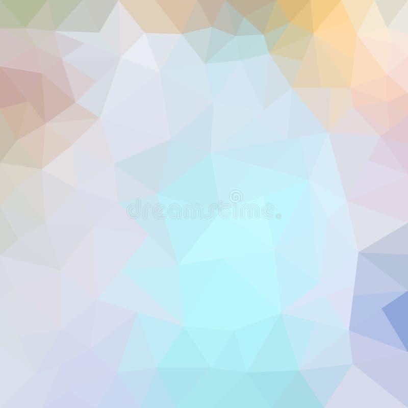 Fondo abstracto del mosaico Fondo geométrico del triángulo Elementos del diseño Ilustración del vector Rosado, azul, violeta ilustración del vector