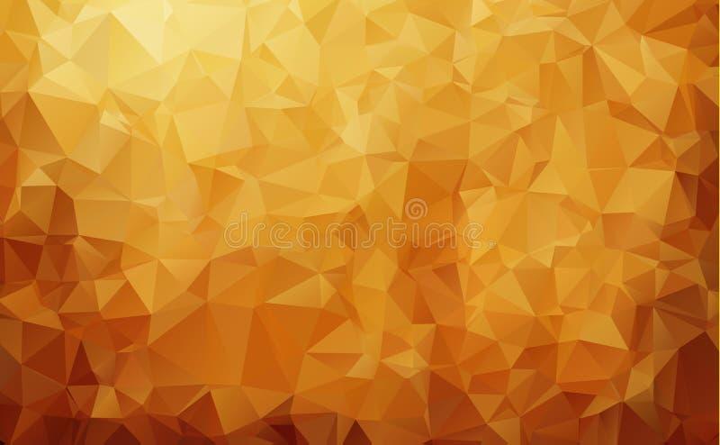 Fondo abstracto del mosaico del triángulo del marrón oscuro Ejemplo geométrico creativo en estilo de la papiroflexia con pendient stock de ilustración