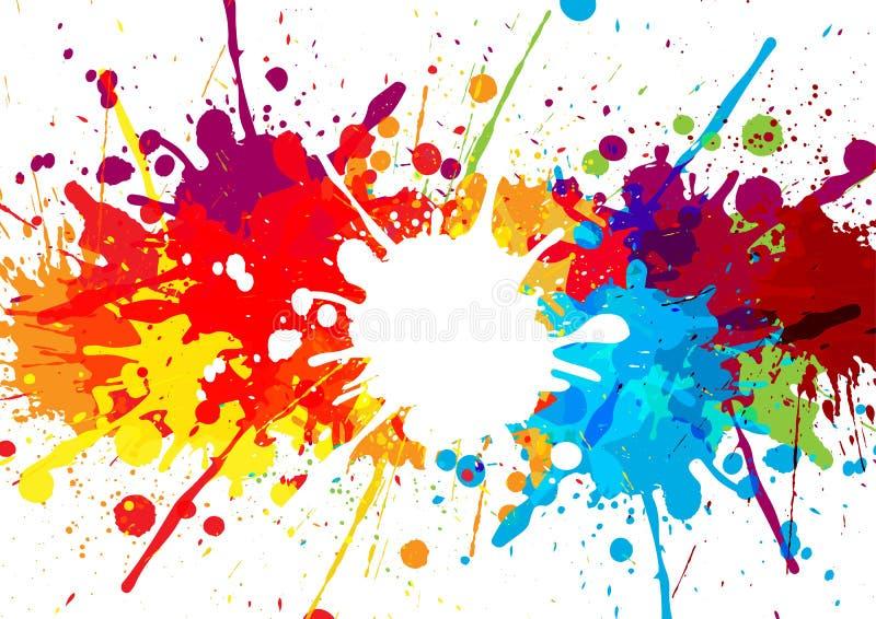 Fondo abstracto del multicolor de la salpicadura ejemplo de stock de ilustración