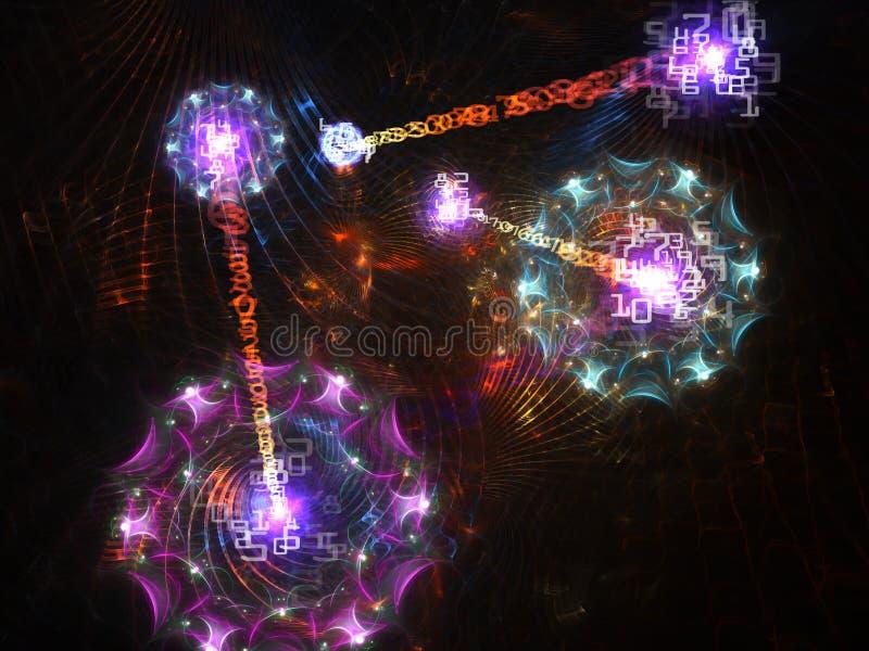 Fondo abstracto del mundo de Digitaces ilustración del vector
