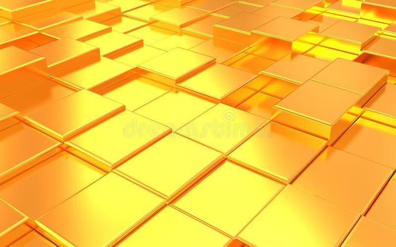 Fondo abstracto del oro del metall ilustración del vector