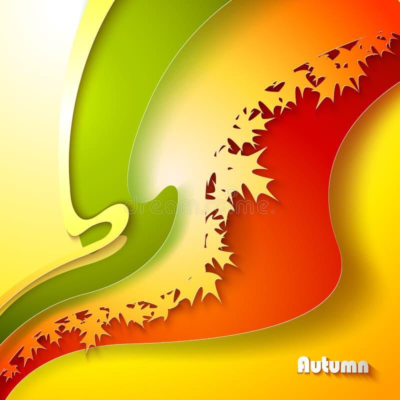 Fondo abstracto del otoño libre illustration