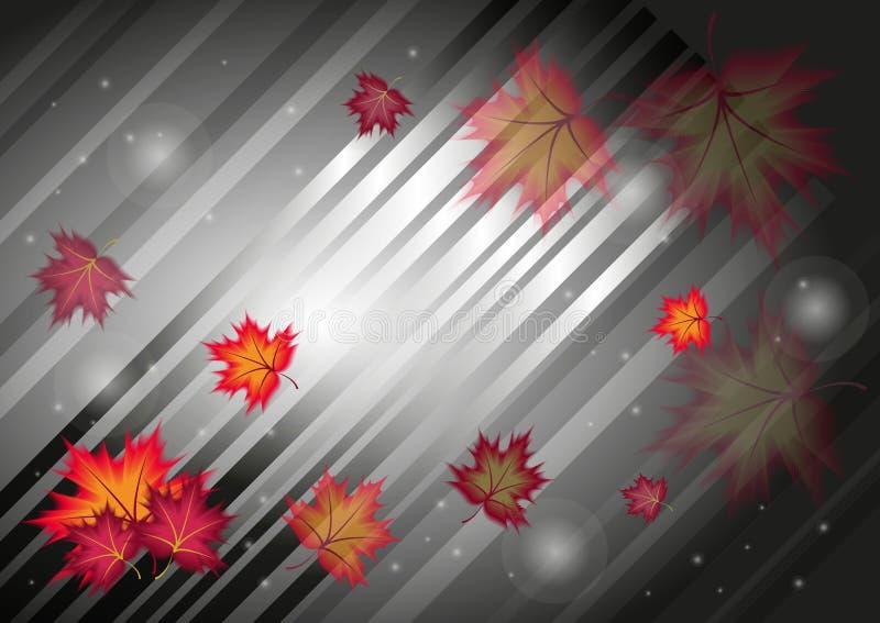 Fondo abstracto del otoño ilustración del vector