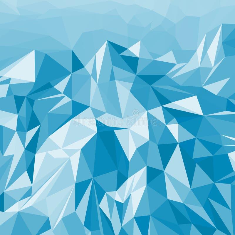 Fondo abstracto del paisaje de la montaña de triángulos multicolores ilustración del vector