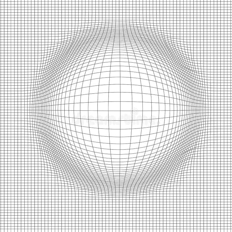 Fondo abstracto del paisaje del vector Rejilla del ciberespacio ejemplo del vector de la tecnología 3d foto de archivo