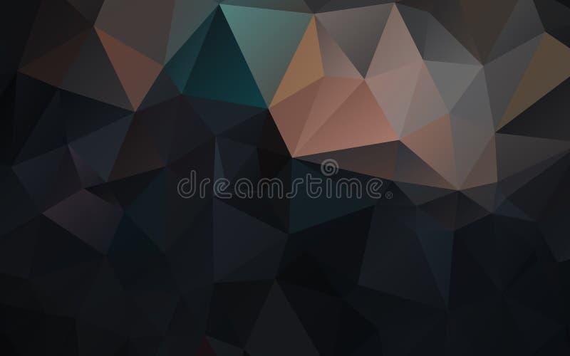 Fondo abstracto del papel pintado del polígono de los triángulos Diseño web libre illustration