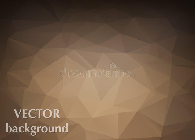 Fondo abstracto del papel pintado del polígono de los triángulos Diseño web c stock de ilustración