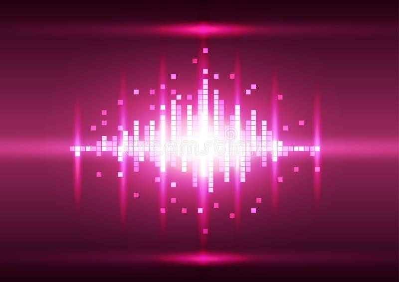 Fondo abstracto del pixel del rosa del color, vector ilustración del vector