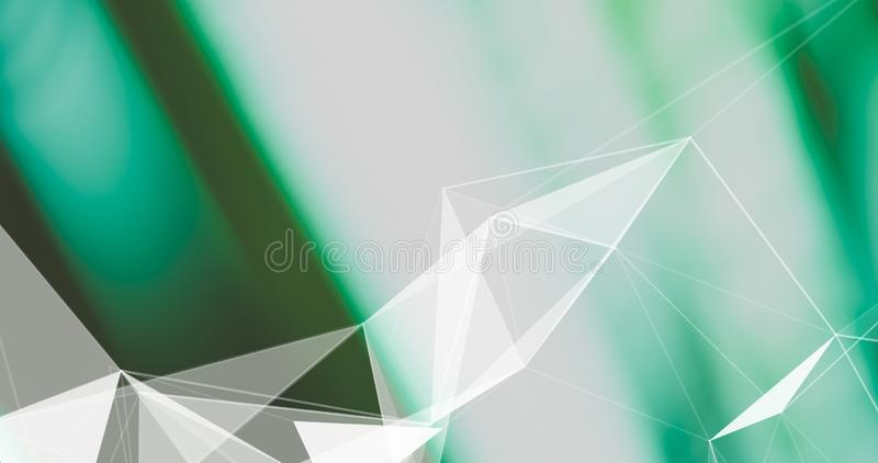 Fondo abstracto del plexo Textura geométrica del poligonal en fondo borroso fotografía de archivo libre de regalías