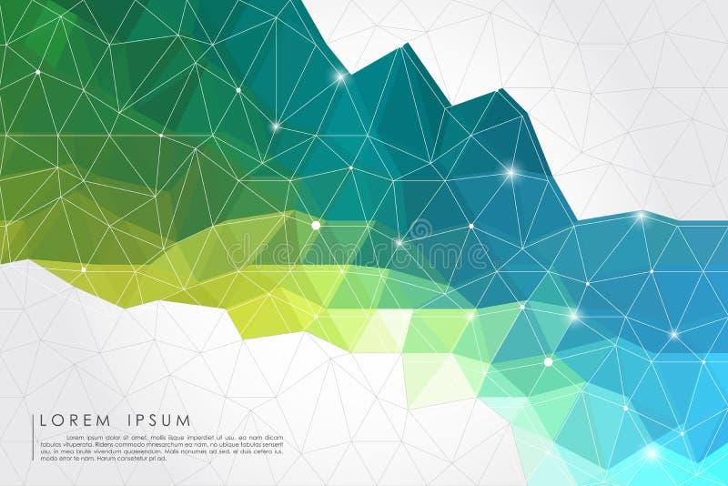 Fondo abstracto del polígono stock de ilustración