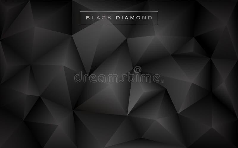 Fondo abstracto del polígono del diamante negro libre illustration