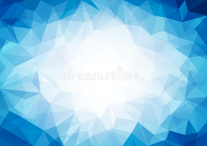 Fondo abstracto del polígono en colores frescos Astillas agudas de la corteza del hielo del hielo stock de ilustración
