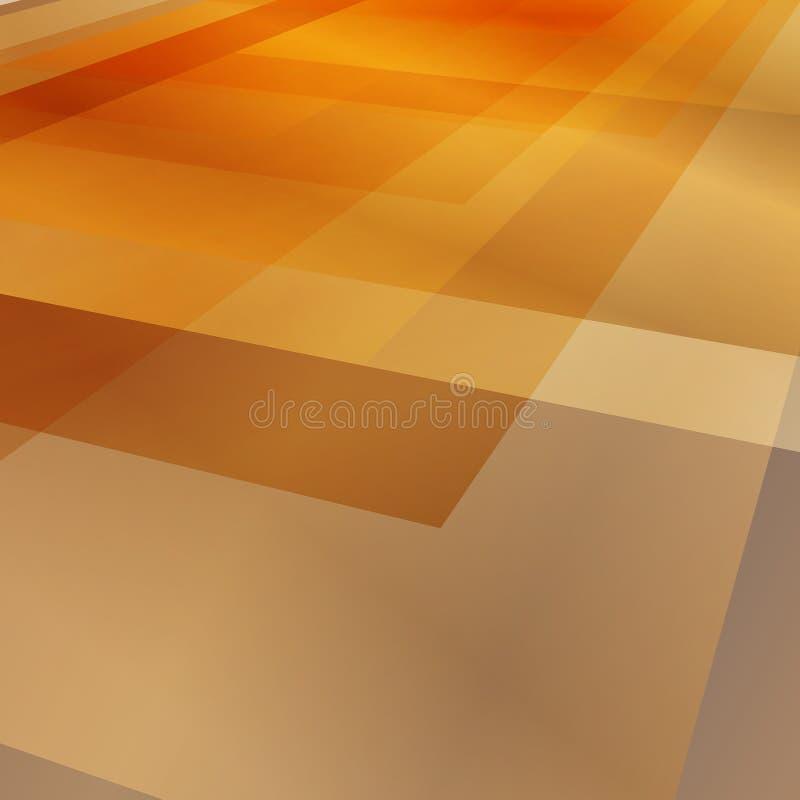 Fondo abstracto del rectángulo La perspectiva tejó el piso stock de ilustración