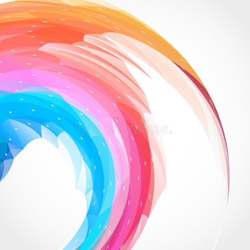 Fondo abstracto del remolino del color ilustración del vector