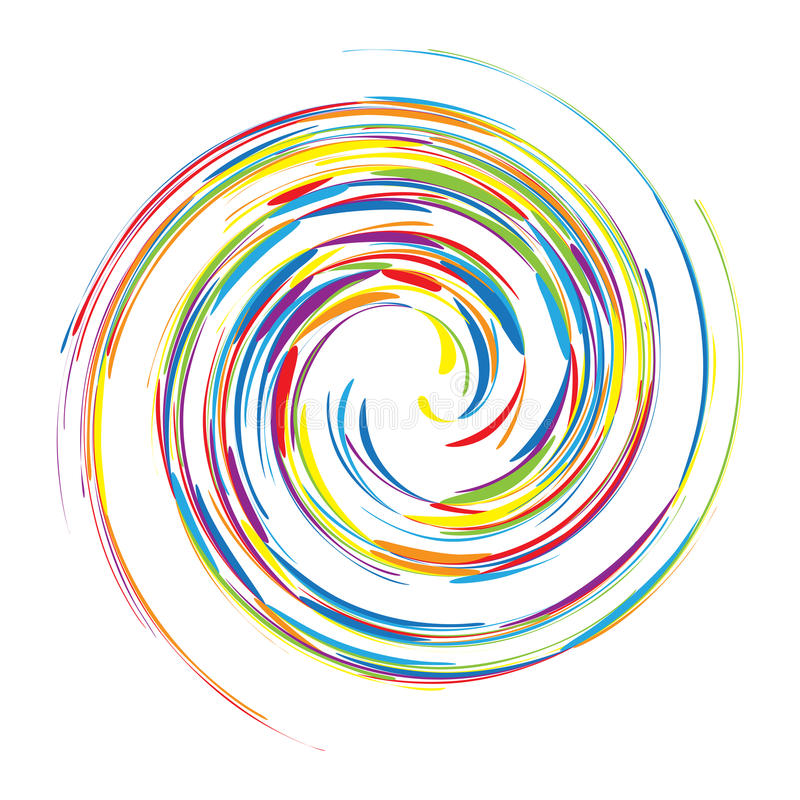 Fondo abstracto del remolino para su diseño stock de ilustración