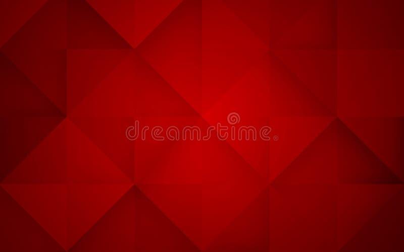 Fondo abstracto del rojo del mosaico Ilustración del vector fotos de archivo libres de regalías