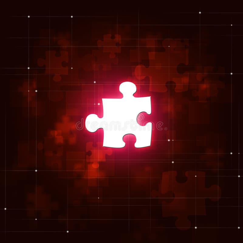 Fondo abstracto del rojo del negocio del rompecabezas fotografía de archivo