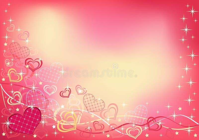 Fondo abstracto del `s de la tarjeta del día de San Valentín. Horizontal. stock de ilustración